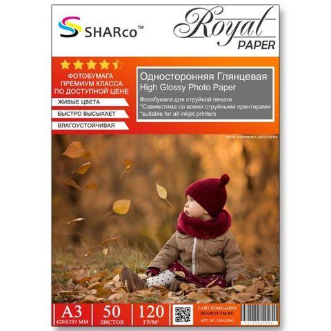 Фотобумага A3 SHARCO (120гр.,односторонняя, глянцевая, 50л.)