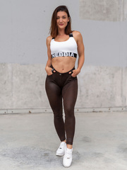 Брюки NEBBIA Leather Look Bubble Butt pants 538 BROWN