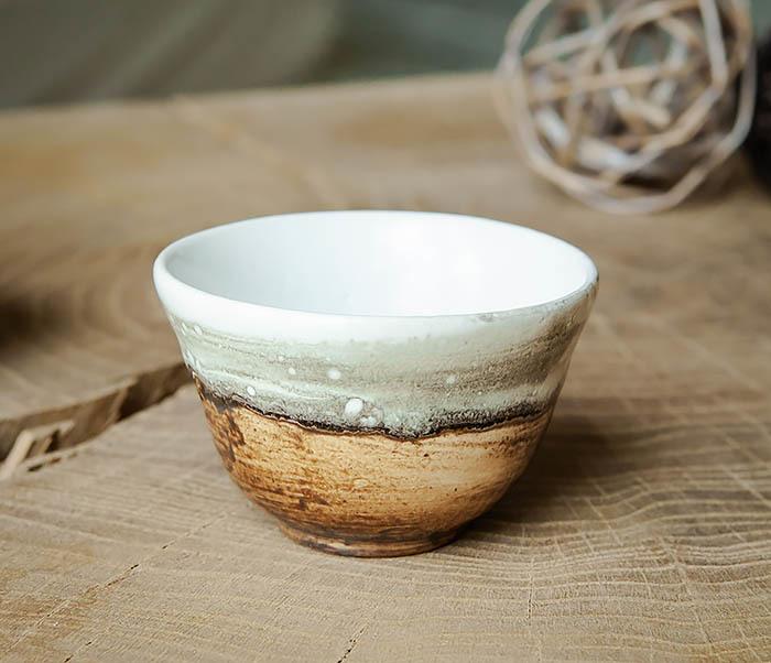 CUP101-2 Керамическая пиала для чая ручная работа, серия «Млечный Путь» фото 02