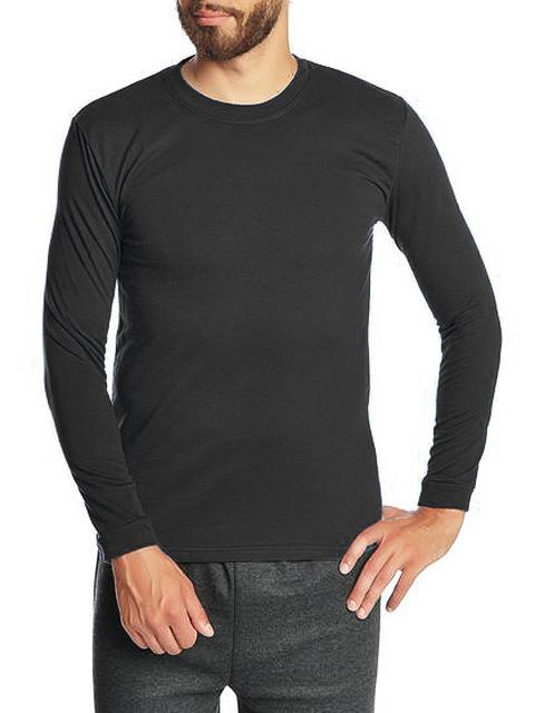 30570-5 футболка мужская дл. рукав, черная