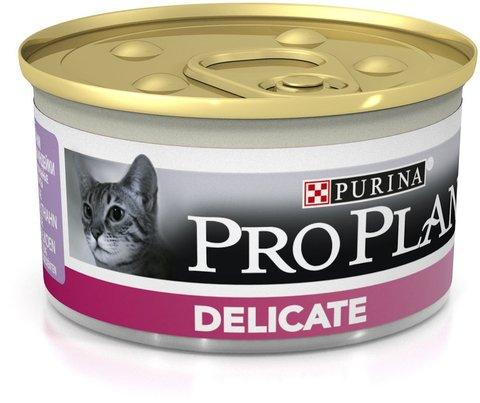 Консервы Pro Plan Delicate для кошек с чувствительным пищеварением 85 г
