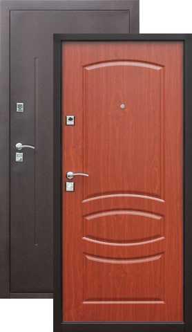 Дверь входная СтройГост 7-2, 2 замка, 1 мм  металл, (медь антик+итальянский орех)