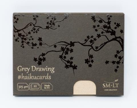 Набор открыток Grey #haikucards 325г/м2 14.7*10.6см 22 штуки
