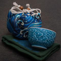 Набор с чайным полотенцем и пиалой 90 мл
