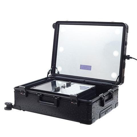 Бьюти кейс визажиста на колесиках (мобильная студия) LC038 Premium Black