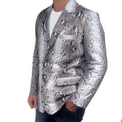 Пиджак из кожи питона JT-6