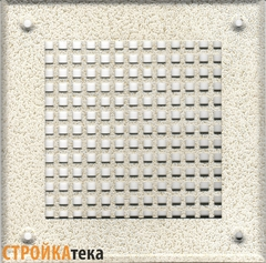 Решетка 150*150 белый антик, б.клетка