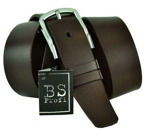 Ремень мужской брючный коричневый кожаный 35 мм 35BS-045