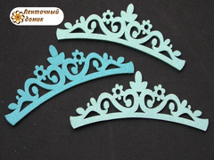 Заготовка Корона цветочная перфорация светло-голубая