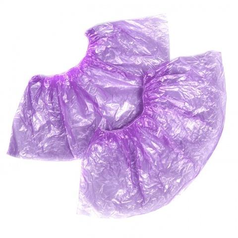 """Бахилы """"Прочные"""" (26 мкм), фиолетовые, 100 шт/уп."""