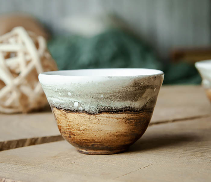 CUP101-2 Керамическая пиала для чая ручная работа, серия «Млечный Путь» фото 04