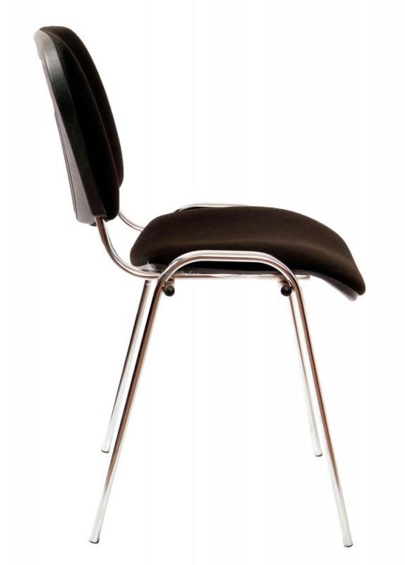 Офисный стул Виси хром/черный
