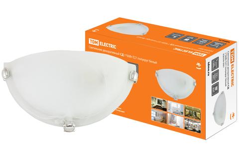 Светильник декоративный СД 1*60 Вт E27 полукруг белый (в индивид. коробке) TDM
