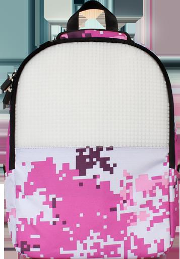 Школьный пиксельный рюкзак Camouflage розовый