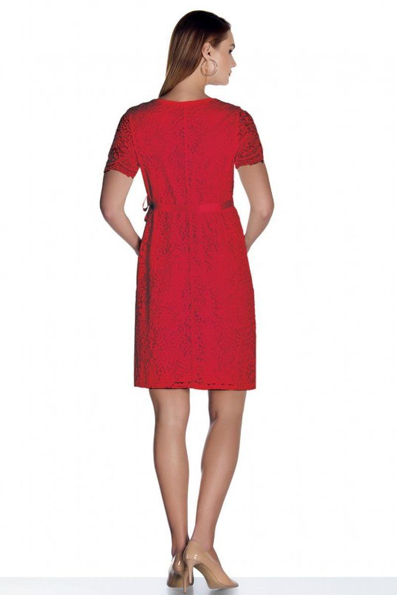 Платье 07858 красный