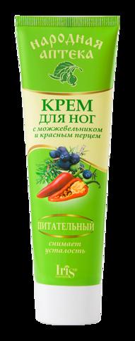 Iris Народная аптека Крем для ног с можжевельником и красным перцем 100мл