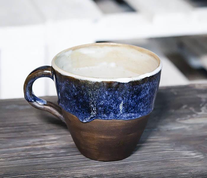 CUP102-1 Керамическая кружка ручной работы (200 мл) фото 03