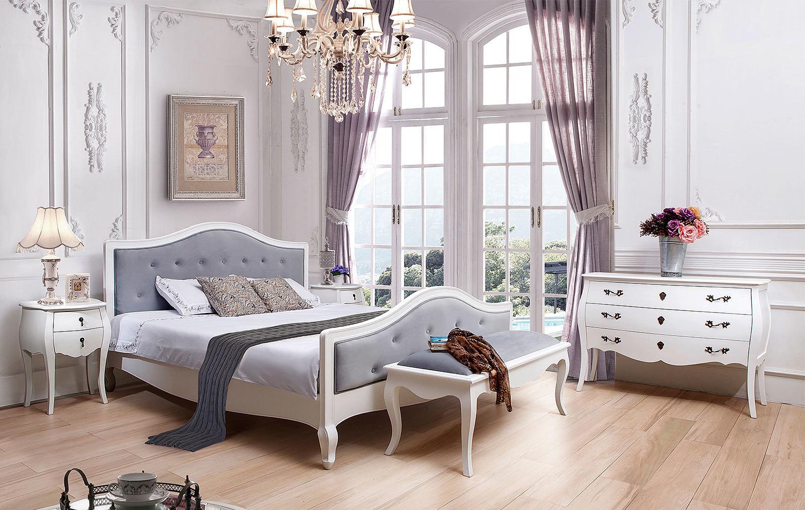 Спальня  ESFPLC, Тумбочка PLC31, Комод горизонтальный ESFPLC29 белый
