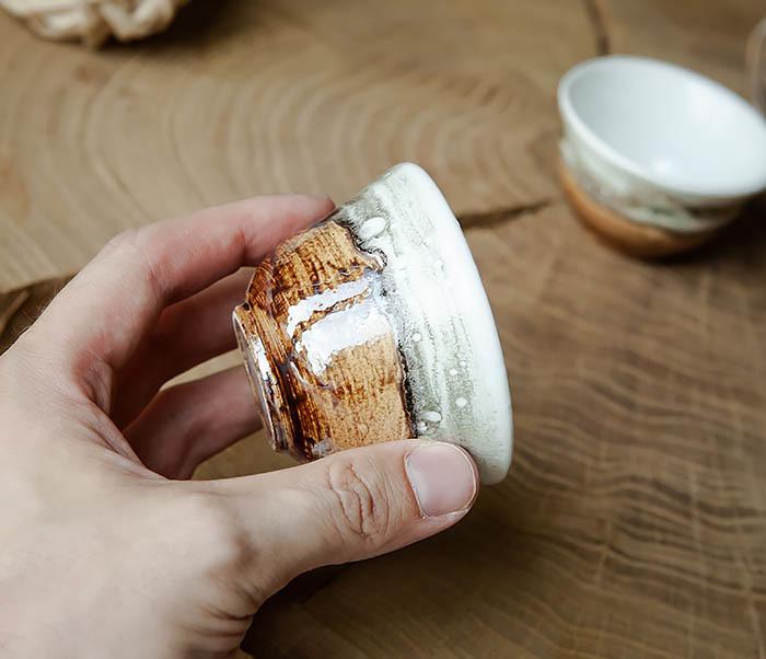 CUP101-2 Керамическая пиала для чая ручная работа, серия «Млечный Путь» фото 08