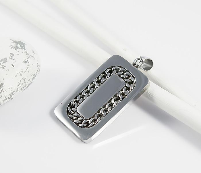 SSPM-5865 Мужская подвеска жетон из ювелирной стали, «Spikes» фото 01