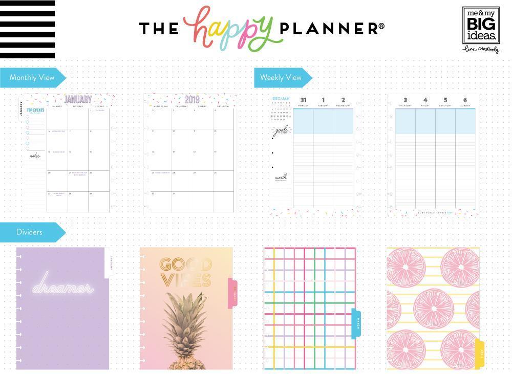 Ежедневник 2019 Classic Happy Planner®-  19,5х24,5см- Life Is A Party