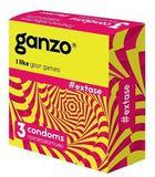 Презервативы GANZO  EXTASE, No3 (Точечно-ребристые, 3шт. в упак.)