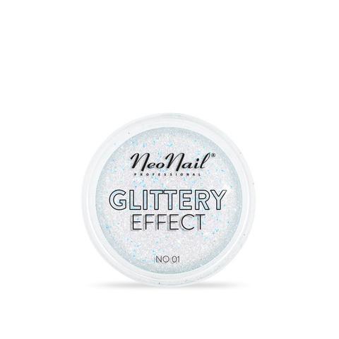 NeoNail Глиттер Glittery Effect №1 золото-голубой
