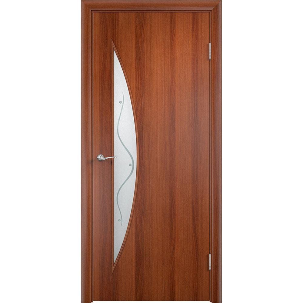 Ламинированные двери Парус итальянский орех со стеклом фьюзинг parus-pof-ital-oreh-dvertsov-min.jpg