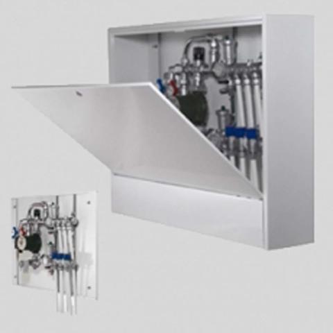 Шкаф коллекторный металлический накладной глубокий UNI-FITT 700х650х180