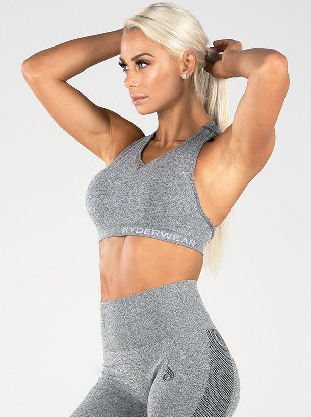Женский топ Ryderwear Seamless Sports Bra - Light Grey Marle