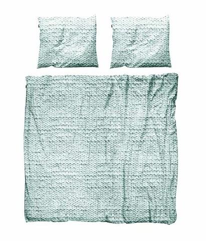 Комплект постельного белья Косичка зеленый фланель 200x220см, Snurk