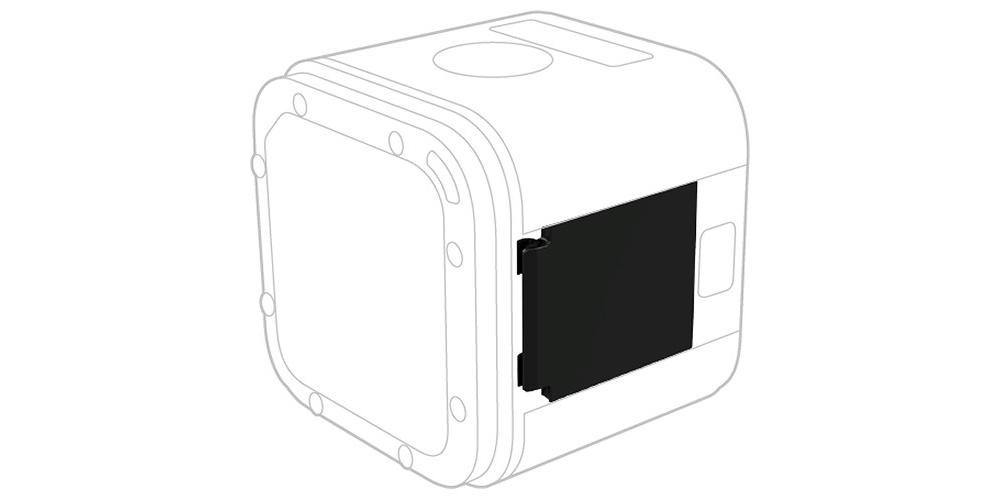 Защитная крышка для HERO5 Session Replacement I/O Door (AMIOD-001) схема использования