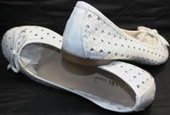 Балетки из мягкой кожи Vasari Gloria 19Y38840 White.