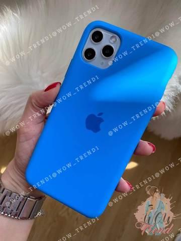 Чехол iPhone 11 Pro Silicone Case /surf blue/ синяя волна original quality