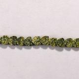 Бусина из змеевика, фигурная, 4x4 мм (сердце, гладкая)