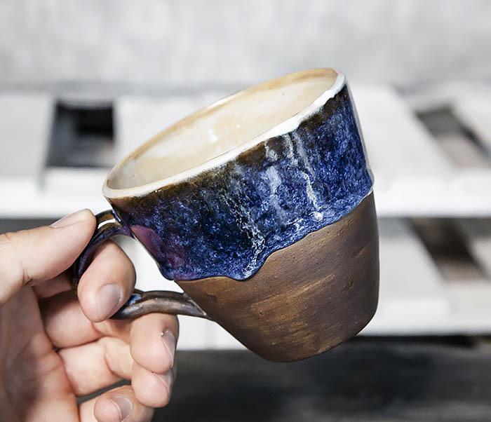 CUP102-1 Керамическая кружка ручной работы (200 мл) фото 09