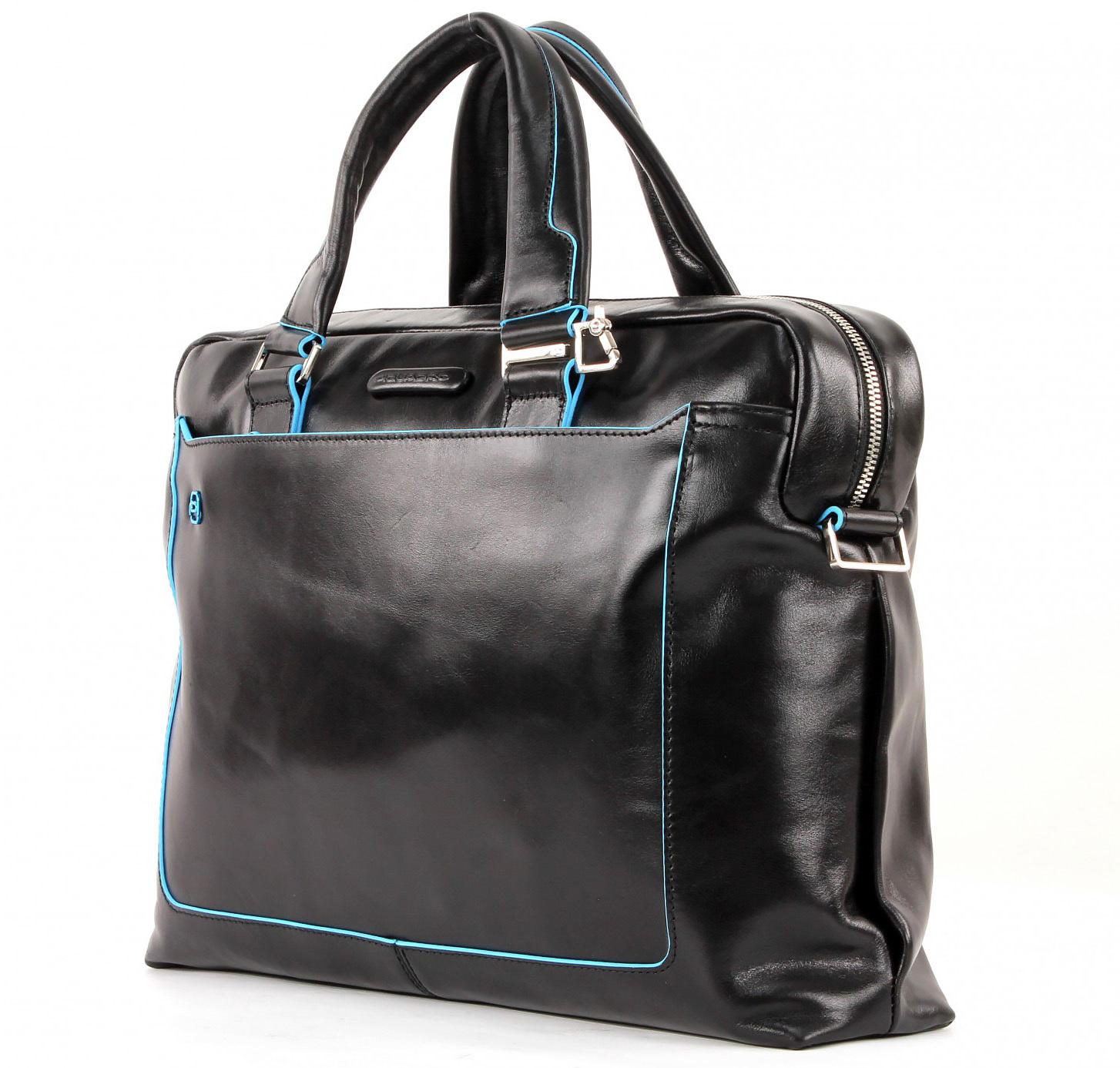 Сумка Piquadro Blue Square, цвет черный, 38,5x27x8,5 см (CA3335B2/N)