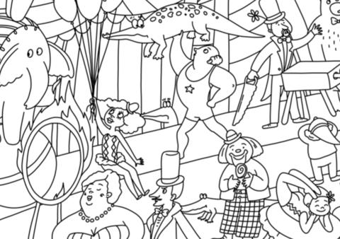 купить огромная раскраска цирк по низкой цене в интернет
