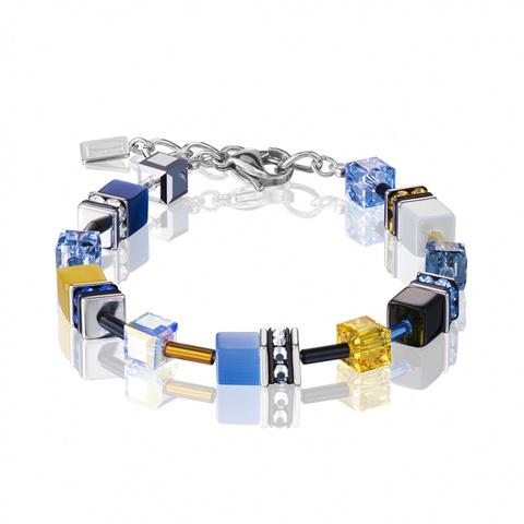 Браслет Coeur de Lion 2838/30-0701 цвет голубой, жёлтый