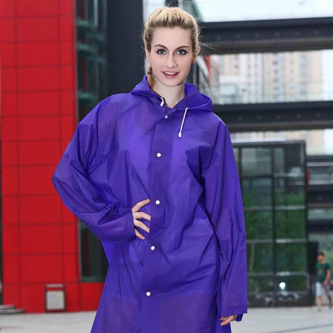 Плащ дождевик с капюшоном фиолетовый