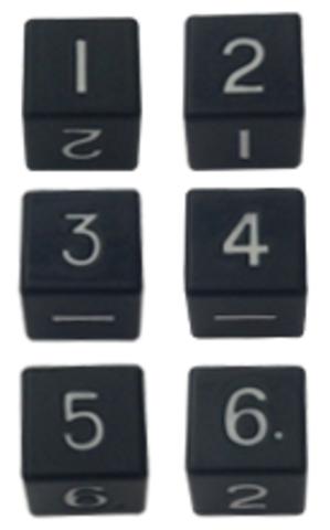 Набор черных шестигранных металлических кубиков