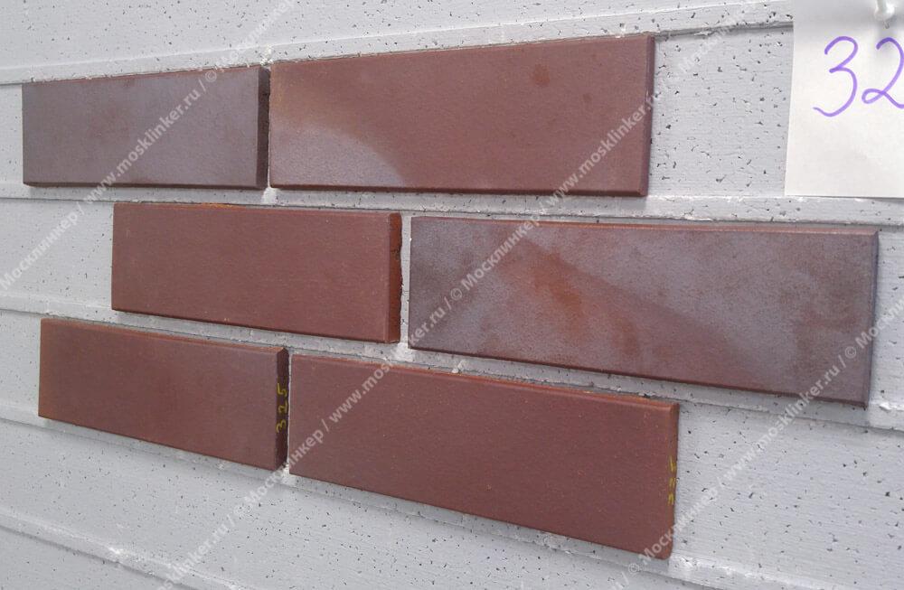 Stroeher, облицовочная клинкерная плитка, цвет 325 achatblue flashed, серия Keravette, unglasiert, неглазурованная, гладкая, 240x71x11