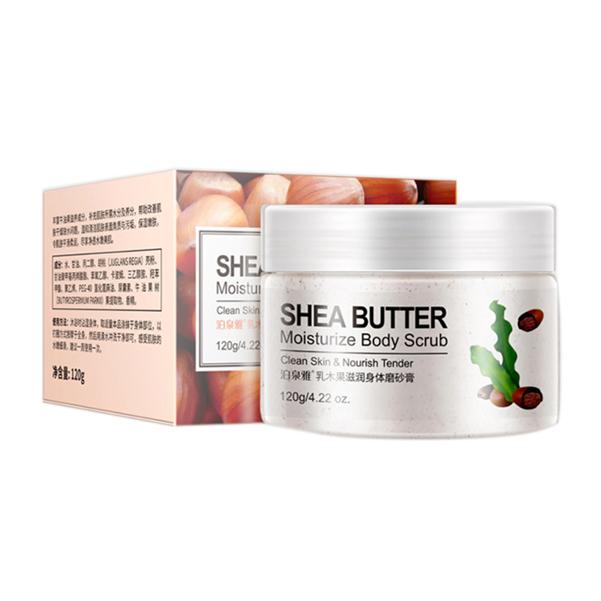 Bioaqua Пилинг-скраб для тела с Маслом Ши Shea Butter Moisturize Body Scrub, 120 г