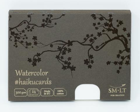 Набор открыток для акварели Watercolor #haikucards 300г/м2 (хлопок) 14.7*10.6см Фин 24 штуки