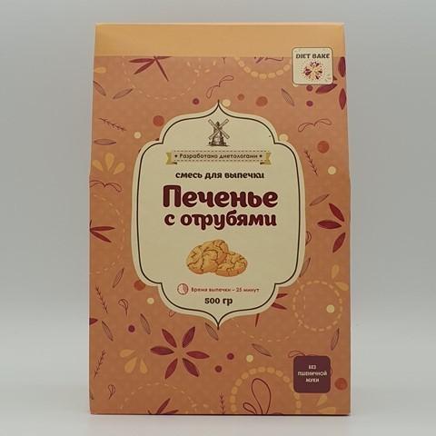 Смесь печенья с отрубями DIET BAKE, 500 гр