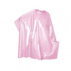 Пеньюар парикмахерский одноразовый розовый 100х160 см., 50 шт./рулон