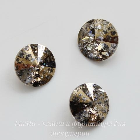 1122 Rivoli Ювелирные стразы Сваровски Crystal Gold Patina (SS47) 10,54-10,9 мм ()