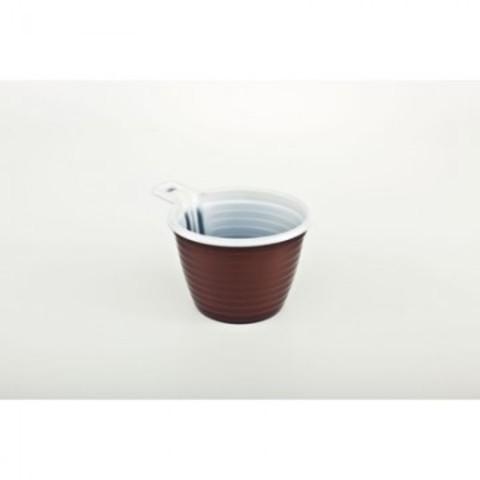 Чашка одноразовая хол/гор, 180 мл, коричн./бел., ПП, 50шт./уп.