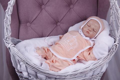Комплект для новорожденного 3 предмета Queen (персик)