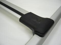 Аэродинамический багажник на рейлинги (серый)